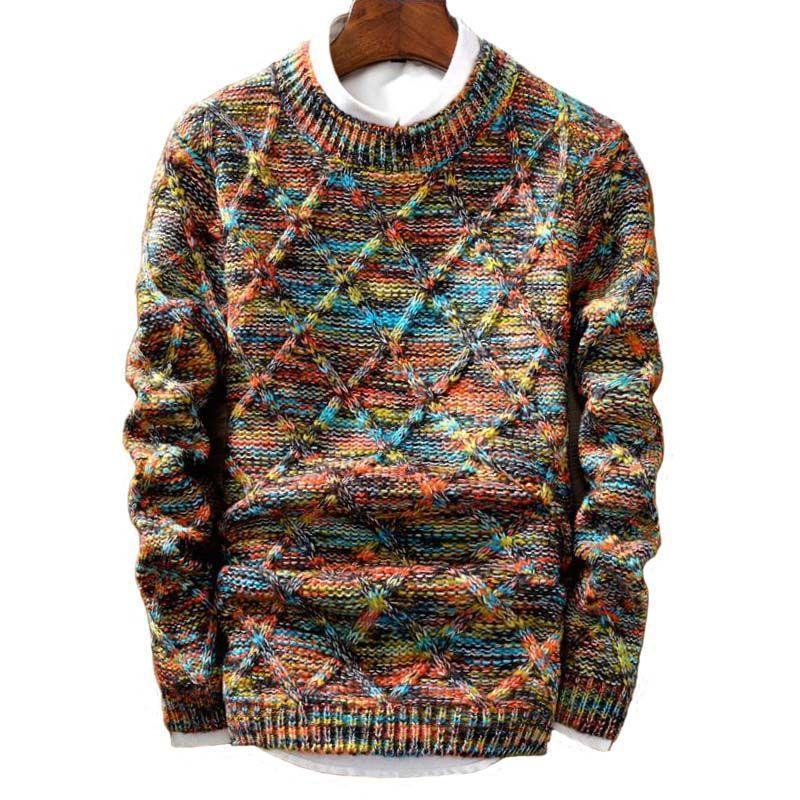 Мужские свитера свитер мужской корейский корейский утолщение утолщения внешней торговли тренд рубашка дна зимняя одежда