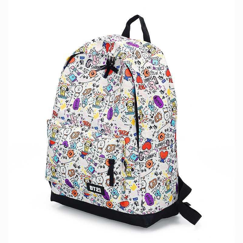 École imprimée Schoolbag Bulletproof pour femmes Street de la Ligue de la jeunesse Même sac à dos Étudiant Campus Étudiant Grand Capacité Sac à dos