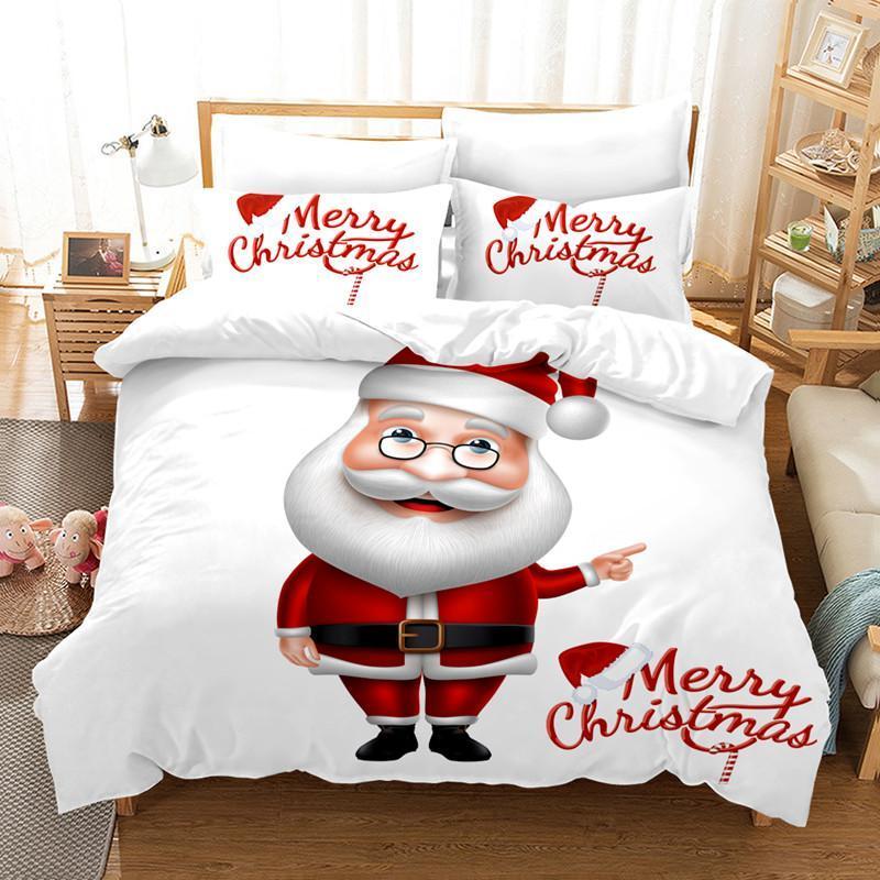 Für Weihnachten Serie Bettwäsche 2/3 teiliges Set, Bettbezug und Kissen