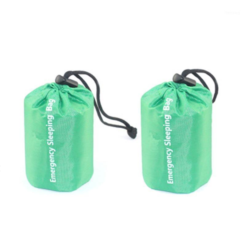 2x Bolso para dormir de emergencia Térmico Impermeable Impermeable Camping Survival Camping Senderismo 1