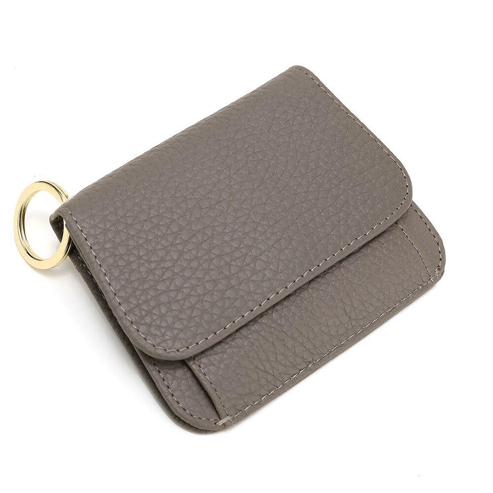 HBP Litchi grain handbags Korean real leather Three bent lady purse Short style cowhide small card bag zipper pocket wallet ZS-BO124