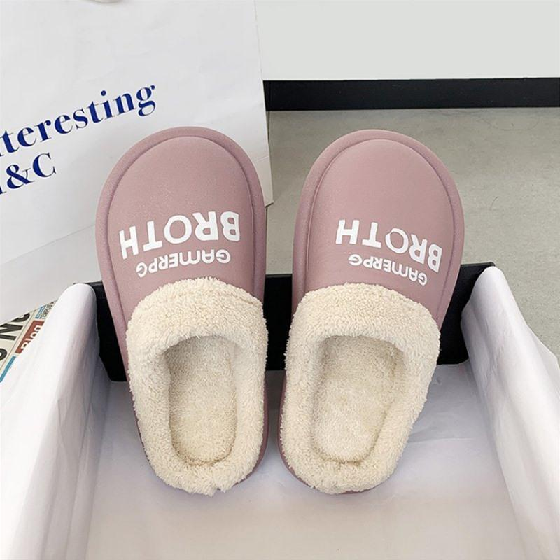 2020 جديدة أزياء الخريف والشتاء القطن النعال والأحذية الدافئة المنزلية داخلية النعال الشتاء المرأة النعال لطيف بالإضافة إلى أفخم الأزياء بادئة رسالة
