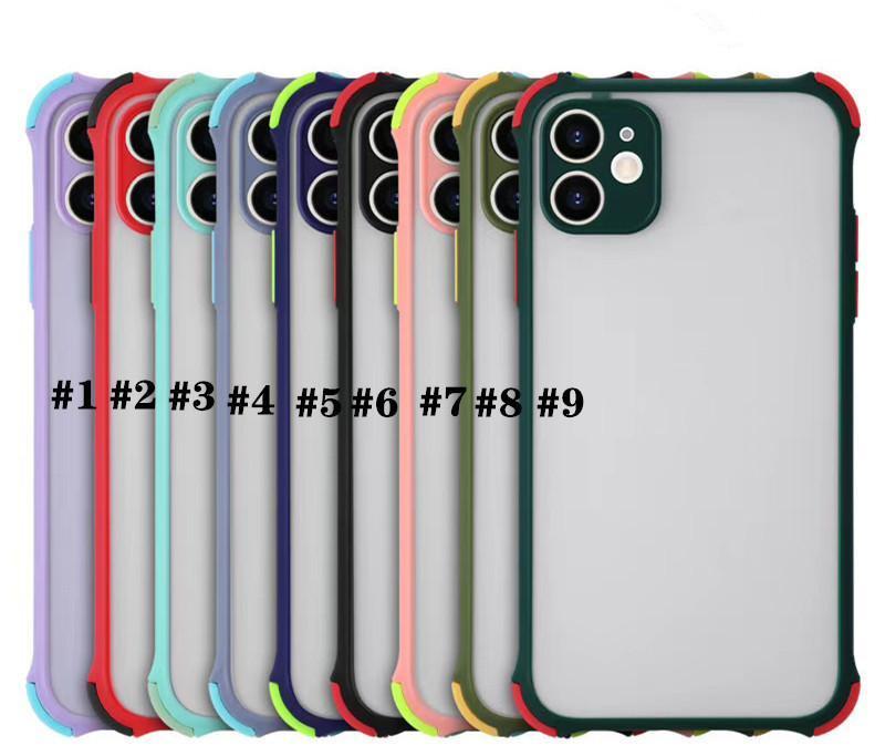 전화 케이스 갑옷 충격 방지 매트 하드 PC 아이폰 12 11 Pro Max XR X XS 6 7 8 플러스 6S 삼성 S20