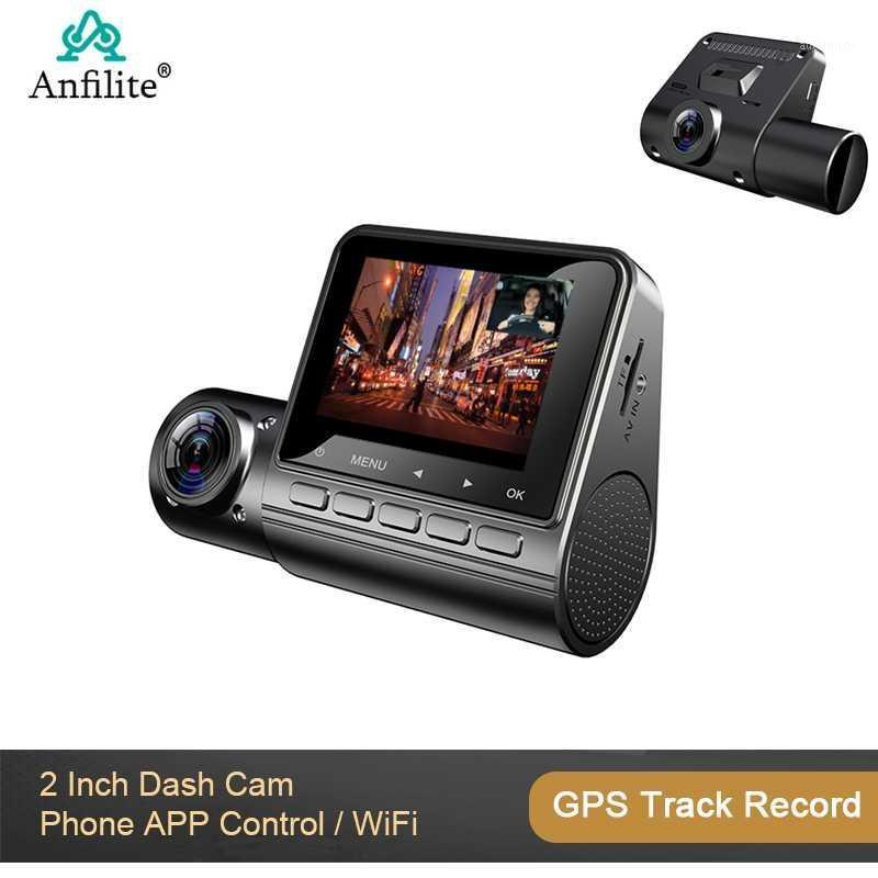 Carro Dash CAM gravador carro dvr full hd 1080p dual lente gps módulo gps gravador de faixas wifi estacionamento monitor1
