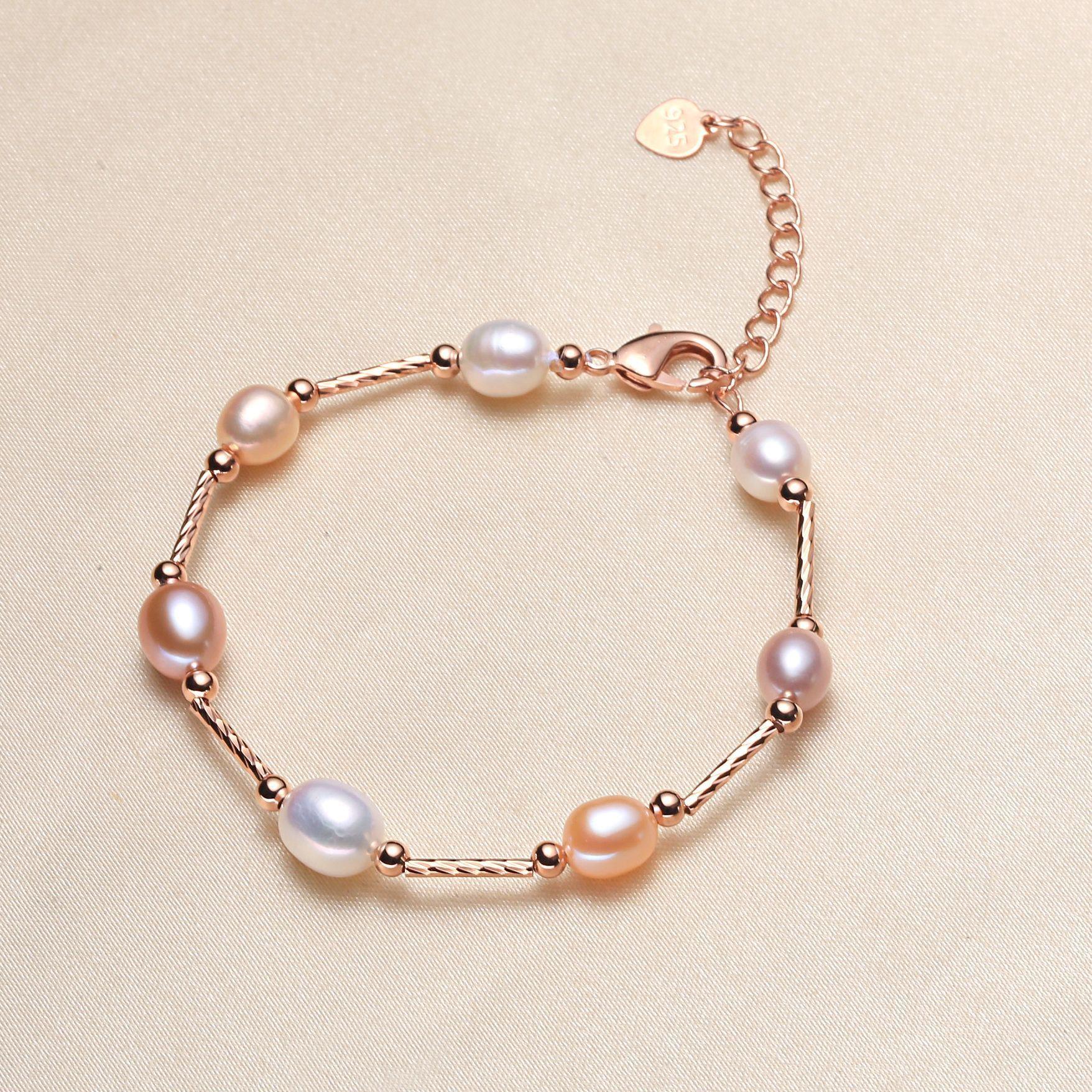 14K золото наполнены белый розовый фиолетовый мульти жемчужный браслет мода браслет жемчуг регулируемый браслет для женщин вечеринка творческий подарок Продвижение