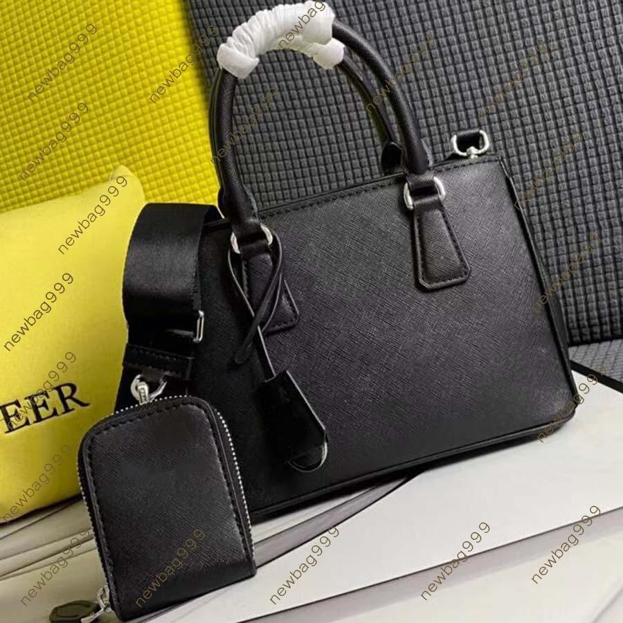 وصول العلامة التجارية حقيبة المرأة مصمم الأزياء حزمة الكتف حقيبة يد جلد طبيعي مع حزام الأشرطة ومحفظة صغيرة