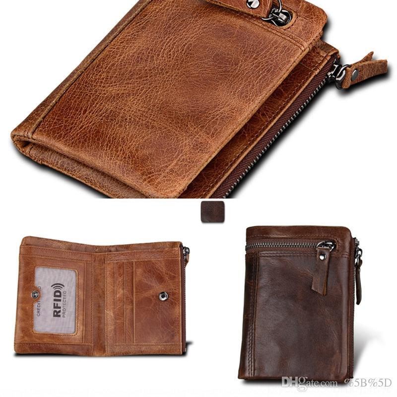 YGAB Classic Leder Brieftasche PU MATERIAL Männer Geschäftsmann Retro mit Brieftasche Geldbörse Multifunktions Schultergurt Halter Lange Bankkartenhalter