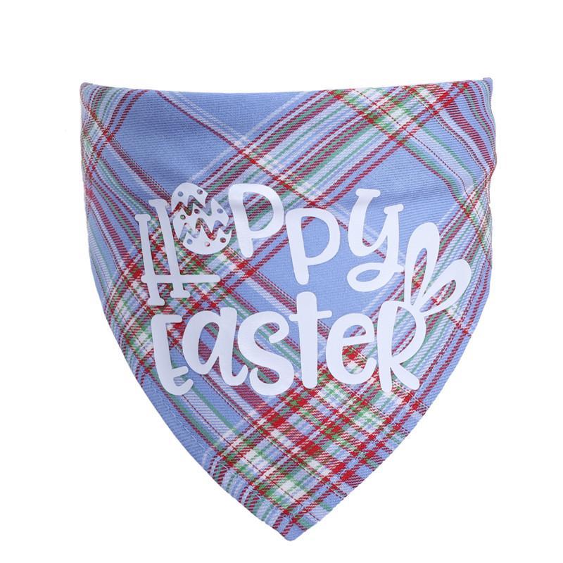 Happy Pâques Animaux de Pâques Triangle Besouse Coton Coton Coton Chien Plaid Cat Bandana 42 * 42 * 60cm Foulard de Pâques Animaux de Pâques 181 N2