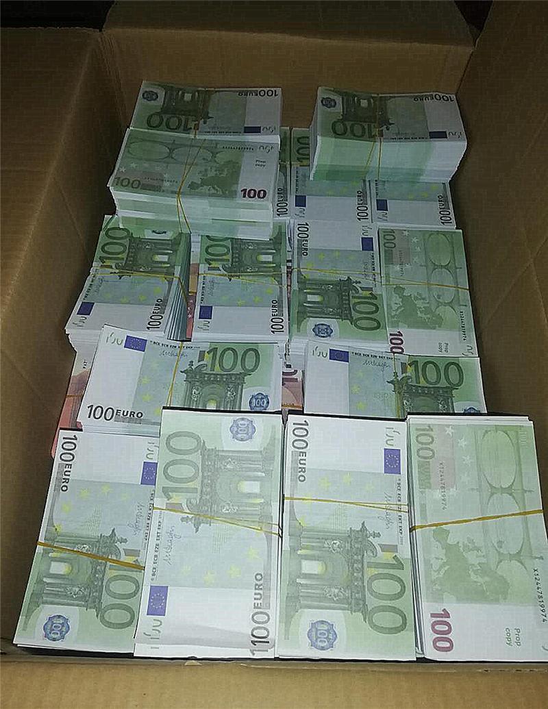 2021 Cross-frontière Hot-Selling Moderne Argent Euro 100 Papier Copier Banknote Popier argent Euro 100 pcs / pack 04