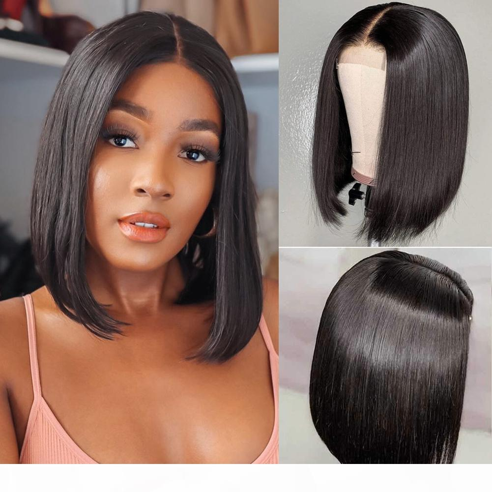New Arrvial 2x6 Bob Lace Frontal Wigs Brazilian Virgin Hair Straight Lace Frontal Human Hair Wigs Swiss Lace Frontal Wig Pre Plucked