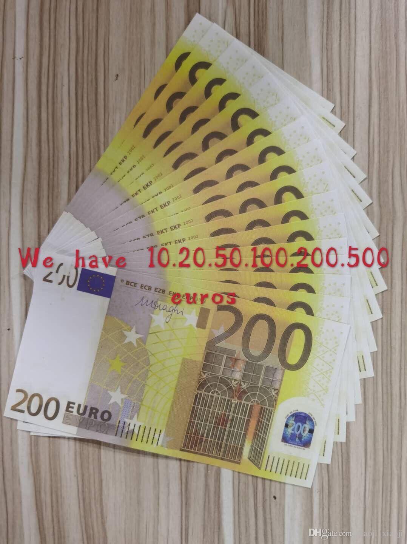 200EUROS PROPH PROPHOP FOURCIE Copie pour la collection Jouer réaliste Banque Business Bank Papier Faux Money Money Discothrub 26 LSVPQ