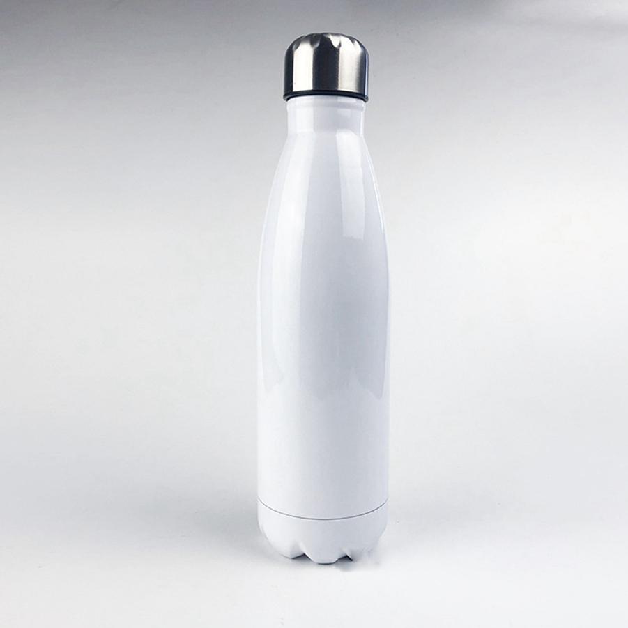 500 ml de sublimation en acier inoxydable cola bouteille vierge bouteille de bowling aspirateur tasse de transfert thermique vierge thermos tasses mer expédition LLA156