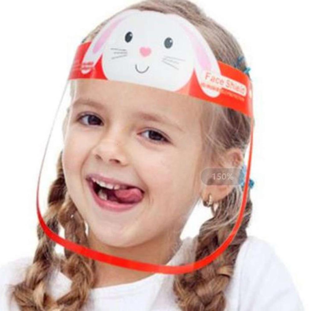 Máscaras Shield DHL DHL Cartoon Face Navio Transparente Protetora Adorável Criança Anti-Névoa Completa Com Óculos Anti Poeira Pet PetX1