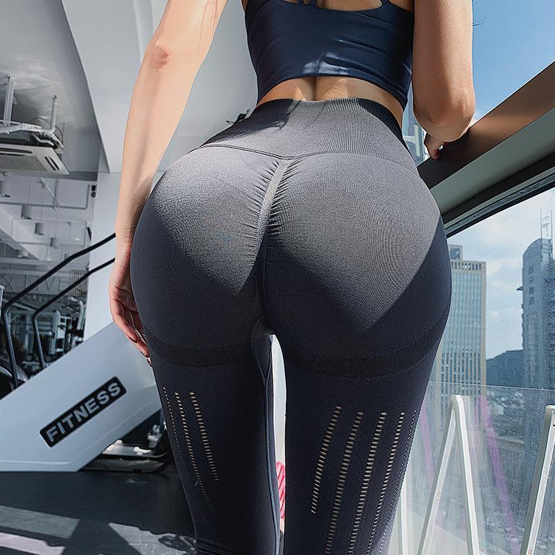 Yoga Outfits Stretchy Fitness Gym Leggings Tummy Control Pants High Waist Sport Seamless Leggins Deporte Mujer Running Women