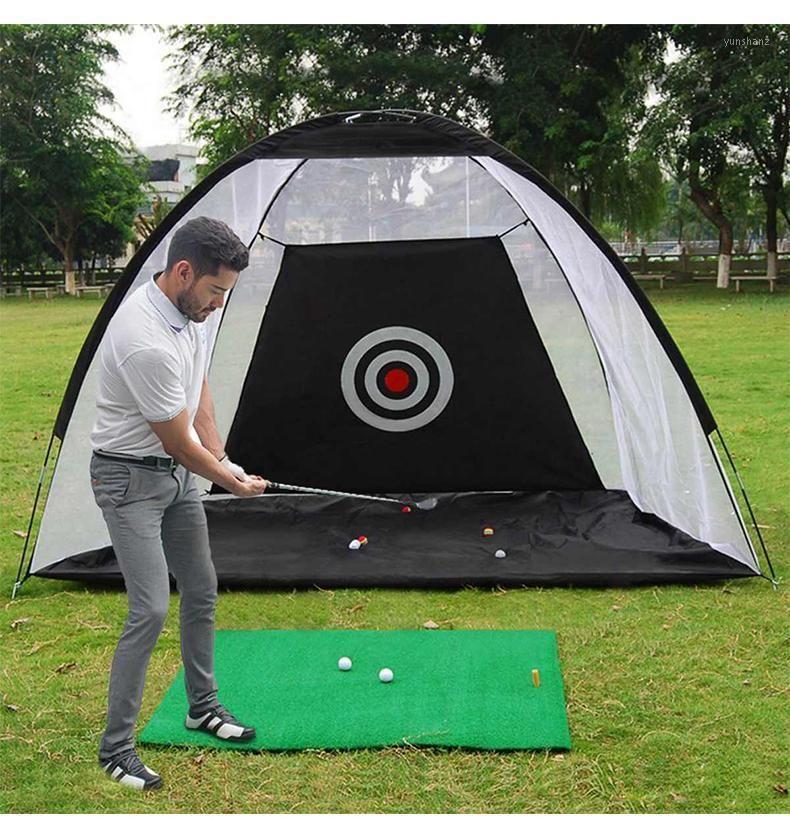 Indoor 2M Golf Practice Net Tent Golf Hitting Cage Garden Grassland Practice Tent Training Equipment Mesh Outdoor XA147A1
