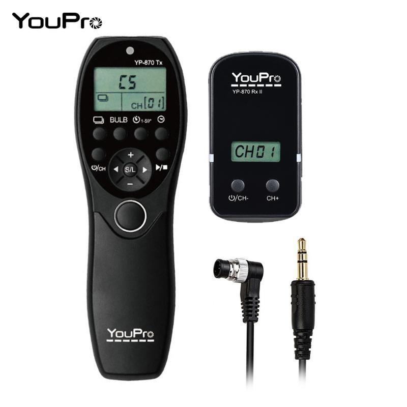 YouPro YP-870 dc0 para D5 D4S D4 D3S D3 Remote Control LCD Temporizador obturador Transmissor Receptor para a Câmara