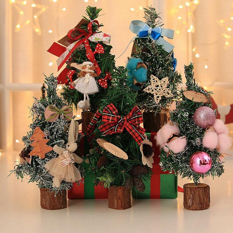 UK Desk Table Mini Natal Árvore de Natal Xmas Partido pequenos ornamentos Decor decorações do feriado Venda Casa Decor De, US $ 2 Irja #