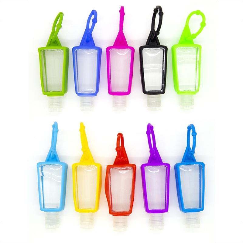 30ML Hand Sanitizer-Silikon-Kasten-Paket Sub-Flasche Shampoo Duschgel Makeup Container Reinigungsflüssigkeit mit leerer Flasche DWF2644