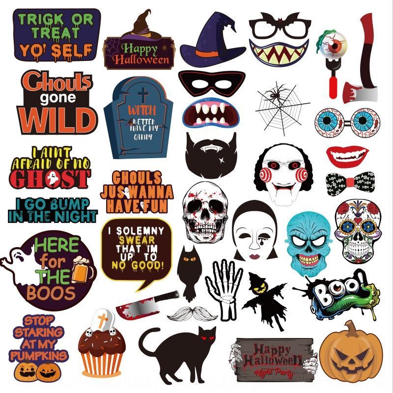 g8GJ6 el 37 y conjuntos de fiesta de la foto de Halloween de Nueva 37 y de los conjuntos de los apoyos de la foto de la fiesta de Halloween Atrezzo Nueva abo5L