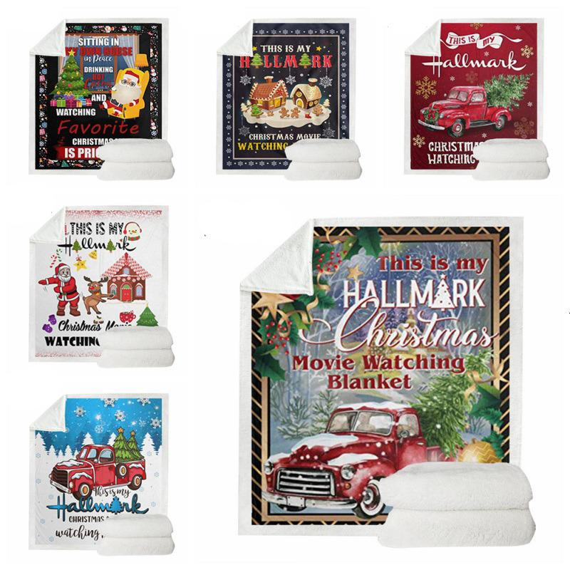 My This Is Hallmark Christmas Movie Watching Double-sided Thickening Blanket Super Soft Cozy Warm Plush Throws for Kids UE1I