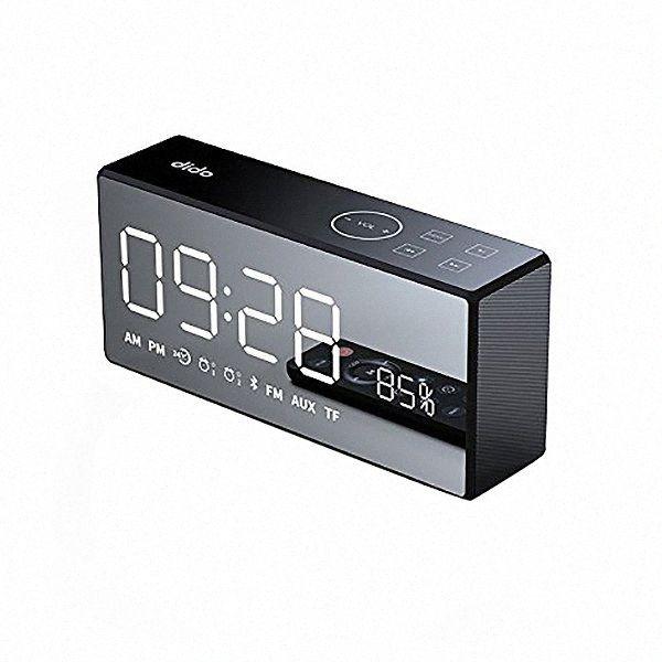 CSS Dido X9 аккумуляторная Зеркало Led Дисплей громкости и басов Привет-Fi Wireless Bluetooth Speaker Fm Aux Будильник - черный KASY #