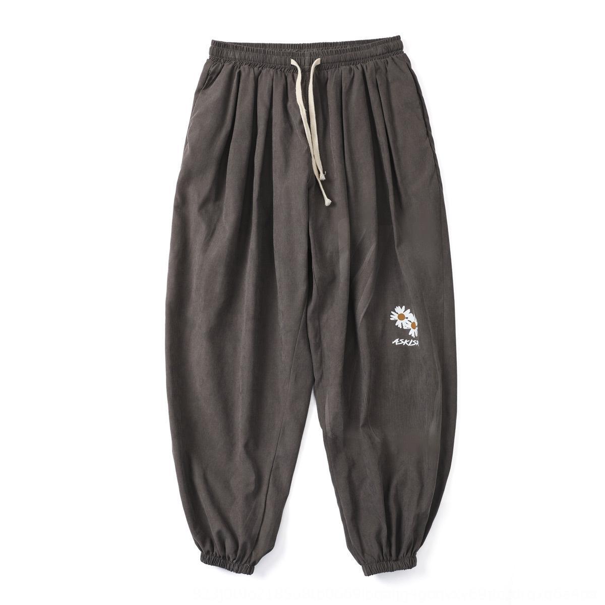 Pantalon coréen de la mode de GPNKV hommes Pantalons versatiles trousersloose et leggings étiquette de la mode d'été du sport jambes capris mince tSpyI