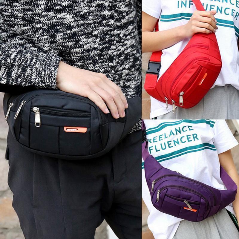 Taille Tasche Männer `s Gurtbeutel Reisen Männer Fanny Pack Hüfte Bumps Bags Weibliche Geldbörse Damen Bauchbeutel Für Handy Münzen1