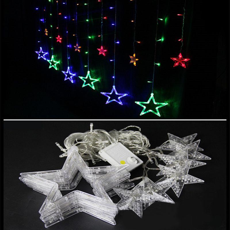Weihnachtsdekorationen für Haus neue Jahr 2021 Lichter Outdoor Led String-warmes Weiß Adornos Navidad Natal Decoracion Kerst 12 Lamp