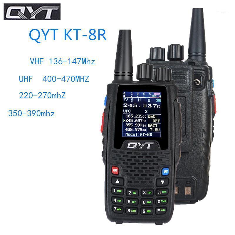 Walkie Talkie Qyt Quad Band Handheld KT-8R 4 Band 3200mAh Bateria Maior Bateria Ao Ar Livre Intercomunicador UV Borne-Way Radio1