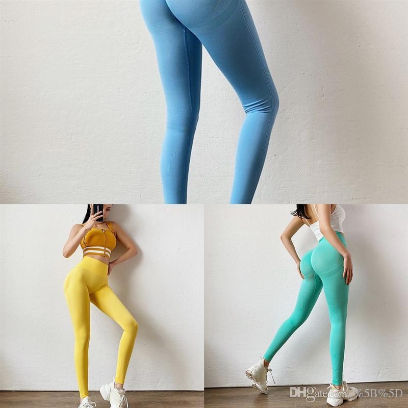 8UU sollevamento anca colorato yoga pantaloni alti pantaloni da donna elastico sport push up formazione fitness vita bodybuilding addome addome leggings