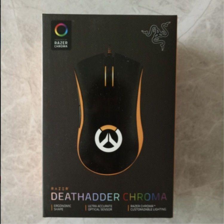Razer Deathodder Chroma USB cablato per computer ottico per computer mouse 10000DPI sensore ottico mouse razer mouse deathadder mice di gioco