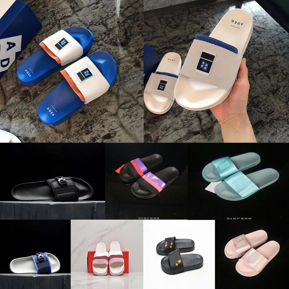 Venta caliente ADER ERROR LIMPLE FLIP FLOP Slipper Slides Sandals Fashion Diamond Supply Diapositiva Plazo de diapositiva FTR Zapatillas de Wilo