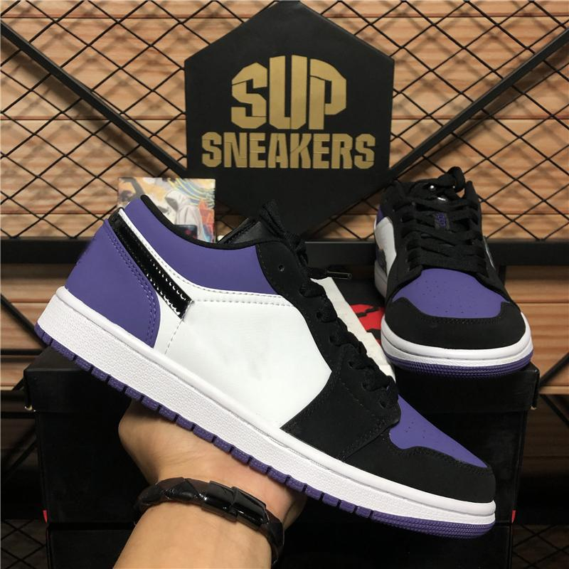 Novos pares sapatos Sombra Jumpman 1 Low Mens Womens 1S Basquetebol Shoes UNC Top 3 Travis Scotts Royal Toe Obsidian Mens Sports Shoes