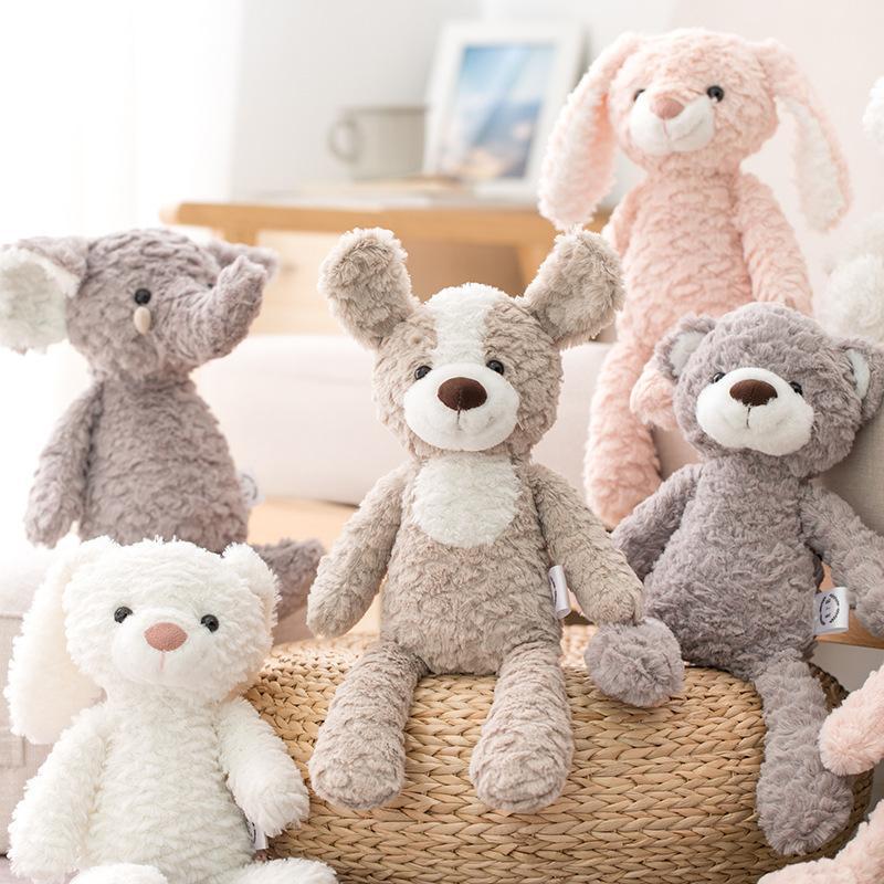 милый плюшевый мишка кукла кролик / единорог / слон плюшевых игрушек высокого качества умиротворить куклы мягких спальных сопровождать подарок для новорожденных детей 1011