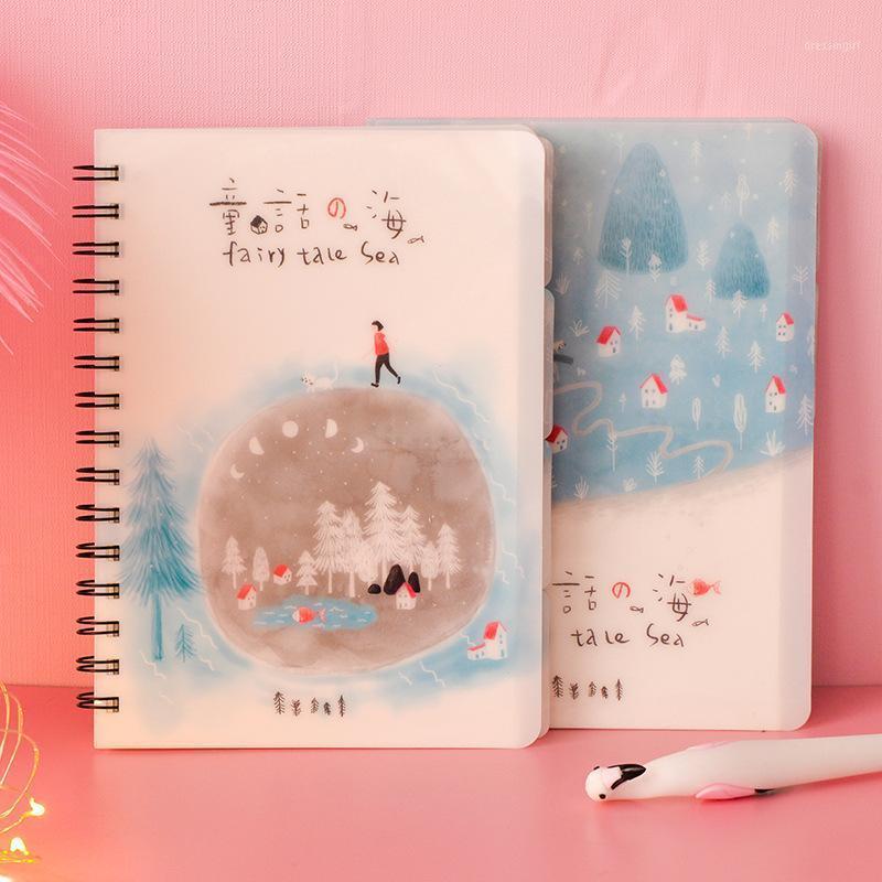 100 folhas pp bobinas notebook, este notebook de rato de pele, coreano pequenos planejadores de estudantes frescos diário de papelaria.1