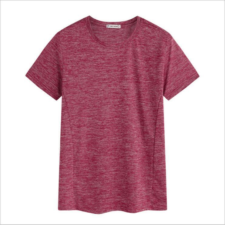 Летние мужские с короткими рукавами большие размеры на открытом воздухе футболка мужская тонкая круглая толстовка дышащая поглоти
