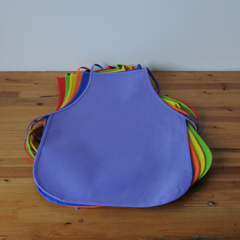 مآزر الأطفال للجنسين الملونة للماء غير المنسوجة النسيج اللوحة pinafore الاطفال الأنشطة الفن اللوحة الطبقة الحرفية المئزر VT1920