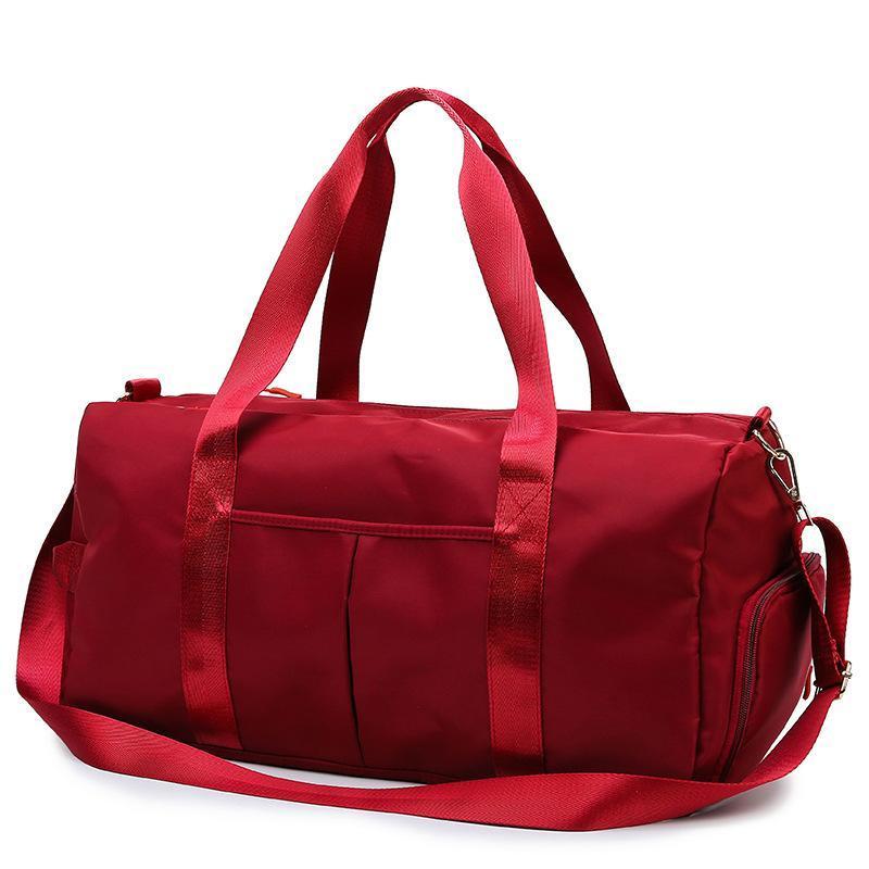 Borse da Duffel in nylon borsa da viaggio portatile bagnata e separazione secca di grande capacità di grande capacità di esercizio