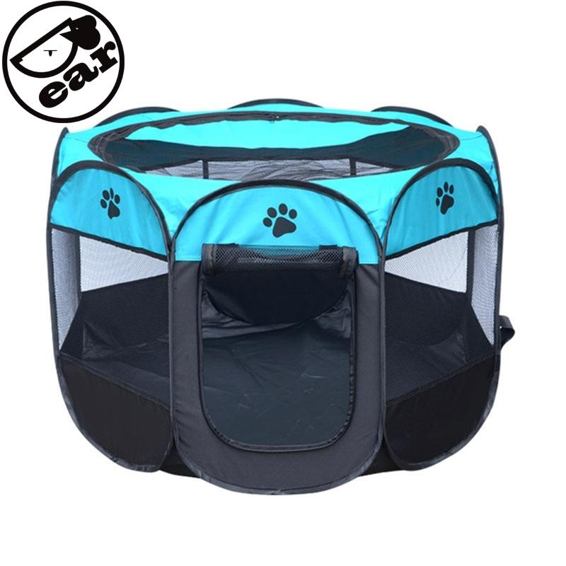 Portable Folding House Cage Dog Cat tent Playpen Puppy Kennel Easy Operation Octagonal Fence Pet supplies