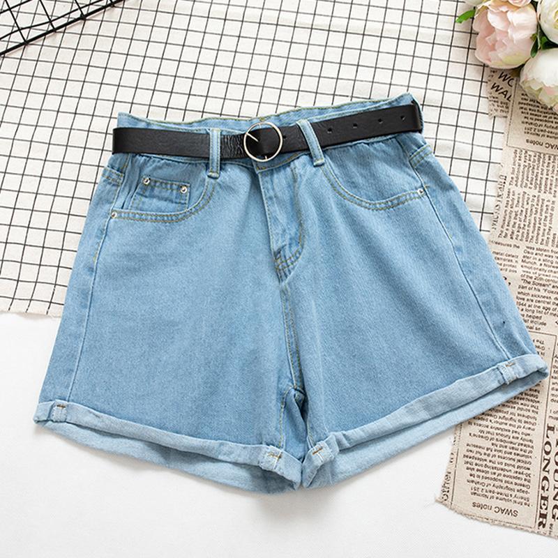 Garemay All Match Sashes Casual Frauen Denim Shorts Crimpen Hohe Taille Slim Sommer Jeans Shorts Feminino Chic Hot Damen Bottom 1018