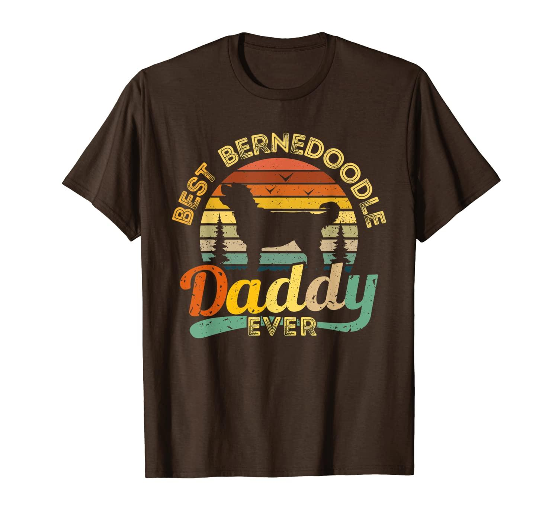 Bernedoodle Dad Shirt Best Daddy Dog Retro Retro Vintage Regalo TEE