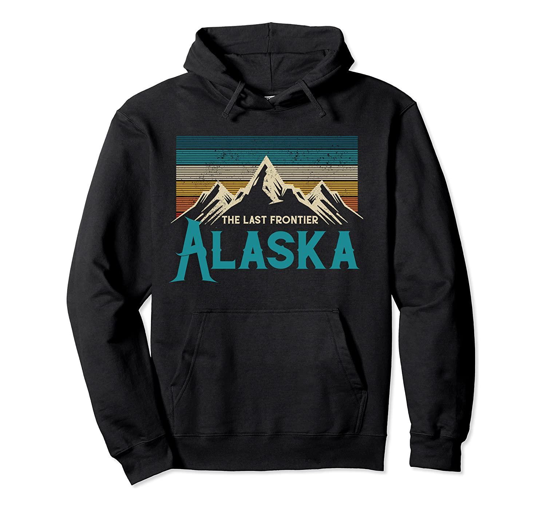 Alaska La dernière frontière montagnes Vintage Nature Pull-Sweat à capuche Unisexe Taille S-5XL avec couleur Noir / gris / Navier / bleu royal / bruyère foncé