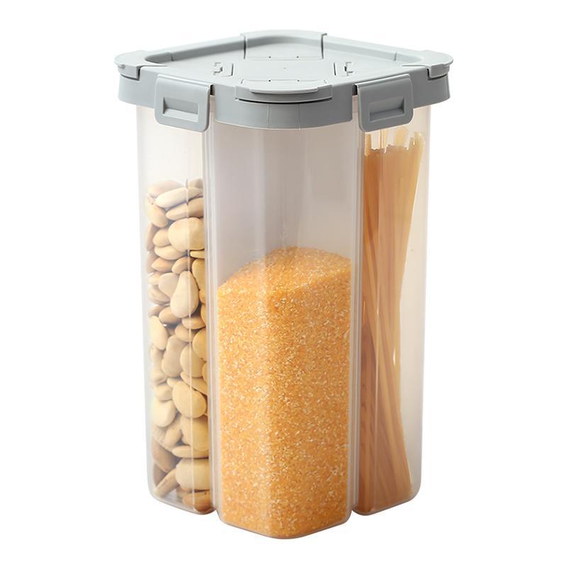 AMINNO CERTEAL STOCKAGE Conteneur en plastique Céréales Distributeur de céréales Cuisine alimentaire sèche de stockage conteneur Distributeur d'avoine BPA-Free Box 201022
