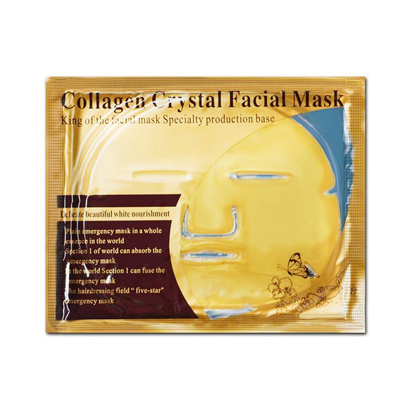 Gold Bio Collagen Facial Mask Cristal Ouro Pó Collagen Máscara Facial Hidratante Anti-Envelhecimento Gold Face Mask Ferramentas de cuidados com a pele