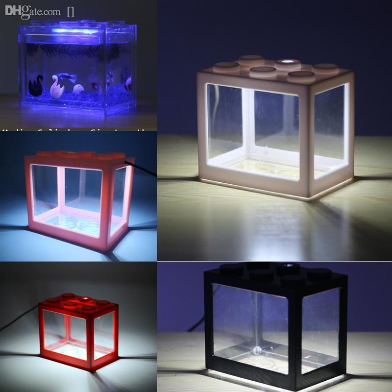 H9DYG RGB Marine Aquarium LED освещение рыбы танк пузырь лего блоки рыбы светло-танк рыбы аквариум кронштейн клип свет лампы ландшафт для