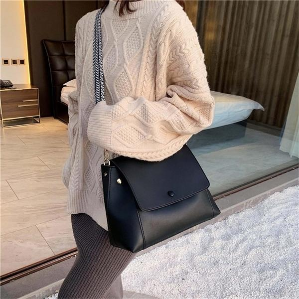 Large Capacity Vintage Messenger Women Pu Leather Elegant Shoulder Bags Office Ladies Handbags Femal Fashion Totes Q1104