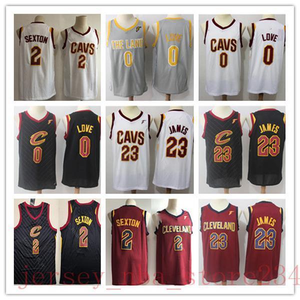 NCAA MENS 0 Kevin LoveClevelandCavaliers Jersey Jr. 5 Smith Collin Sexton 2 Sexton JR Tristan Thompson 23 James Basketball Jerseys