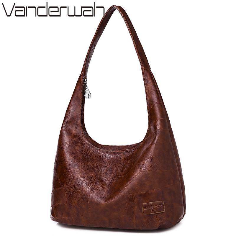 Pu d'inverno Hobos delle donne del sacchetto di cuoio di lusso borsa grande di spalla delle signore sacchetto di mano Big Tote Top-sacchetti della maniglia per le donne Sac Bolsas