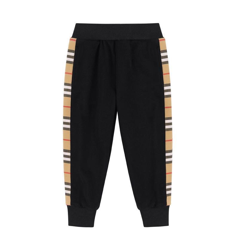 Мальчики брюки мода полоса повседневная девушка мальчики спортивные брюки дети пластырь-подростка детская одежда для мальчиков 2-8 лет