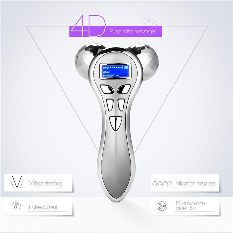 Massage visage électrique Rouleau visage du corps Massage outil de beauté lifting visage Enlèvement rides perte de poids amincissant la machine de massage